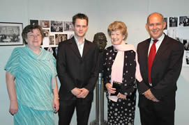 L to R : Gladys Pritchard (Festival Director), Dewi, Lady Cledwyn of Penrhos, Albert Owen (MP for Isle of Anglesey)